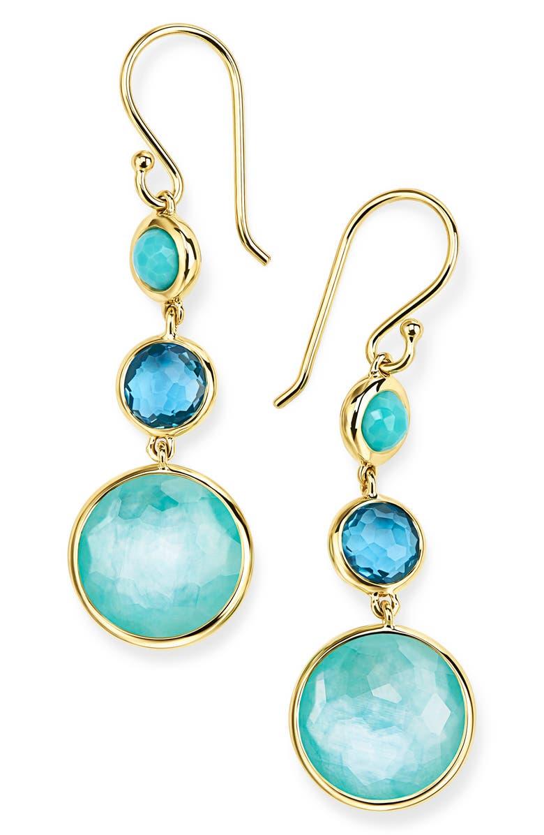 IPPOLITA Small Lollipop 3-Stone Drop Earrings, Main, color, WATERFALL