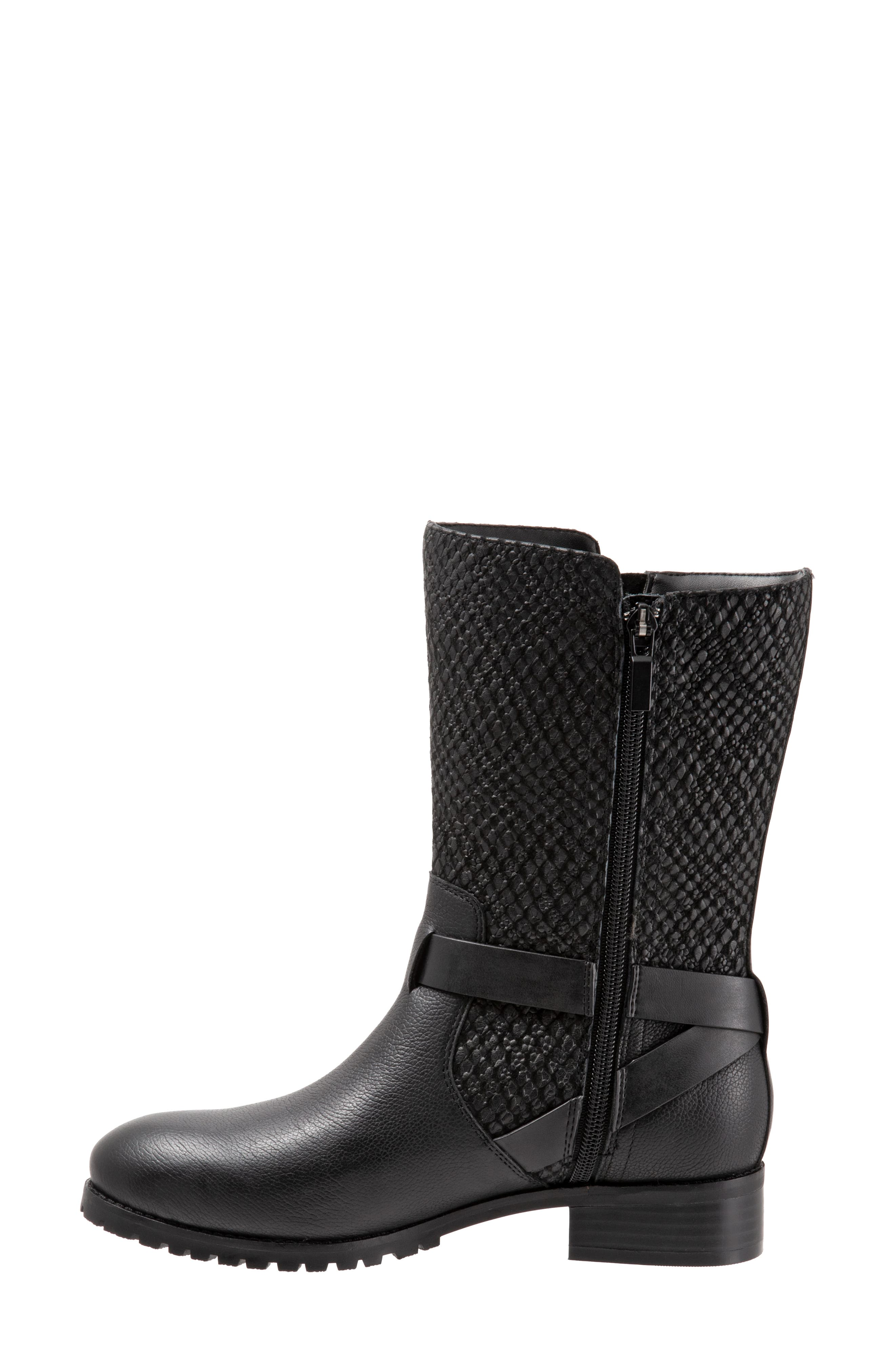 ,                             Marlowe Boot,                             Alternate thumbnail 8, color,                             BLACK REPTILE LEATHER