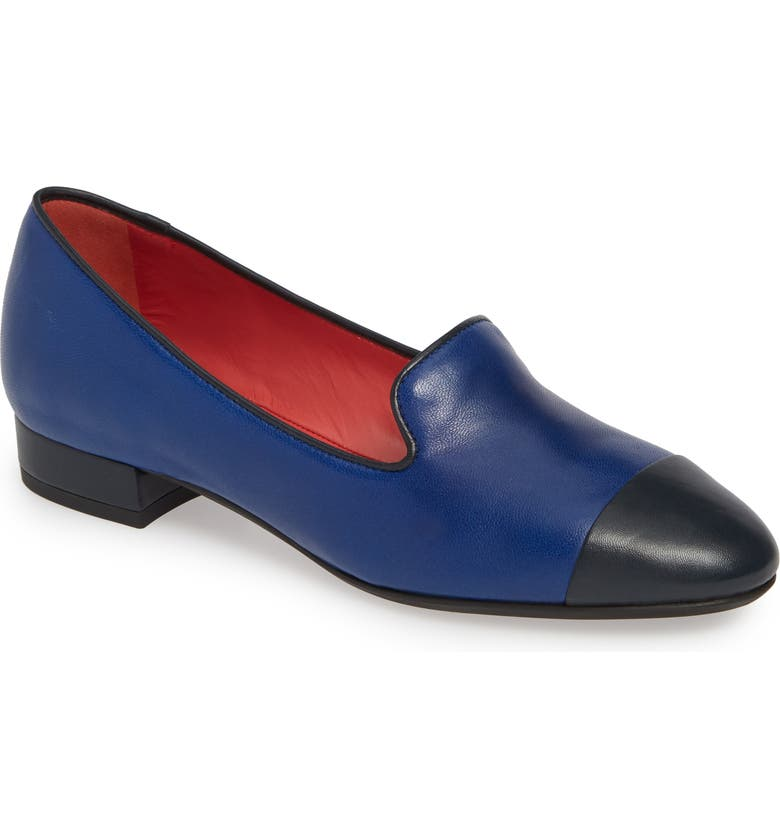 PAS DE ROUGE Daria Loafer, Main, color, DENIM/ BLUE LEATHER