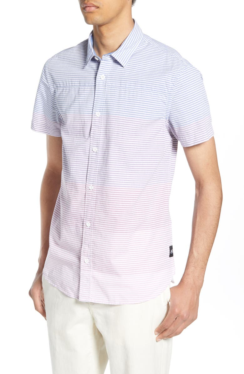 SCOTCH & SODA Gradient Stripe Woven Shirt, Main, color, COMBO A