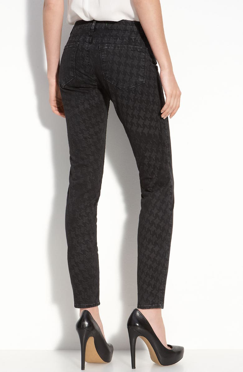 J BRAND Houndstooth Print Skinny Jeans, Main, color, 001
