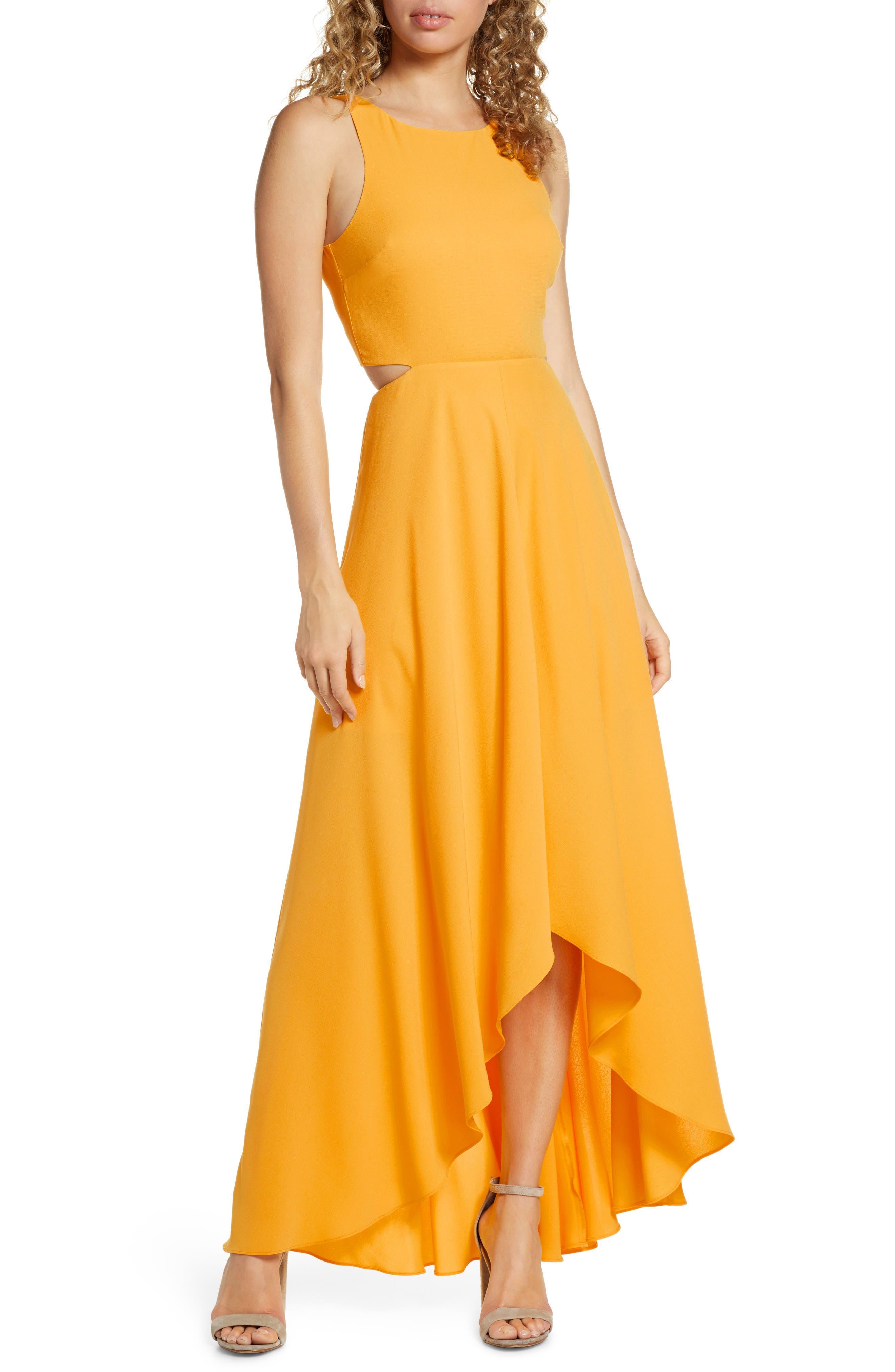 Ali & Jay Cutout Maxi Dress, Yellow