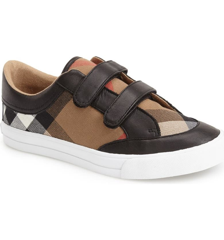 BURBERRY Mini Heacham Sneaker, Main, color, 001