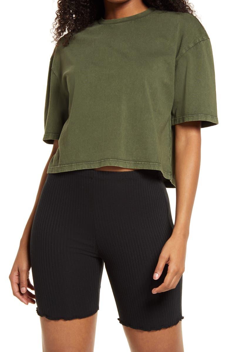 BP. Cool Girl Crop T-Shirt, Main, color, OLIVE SARMA