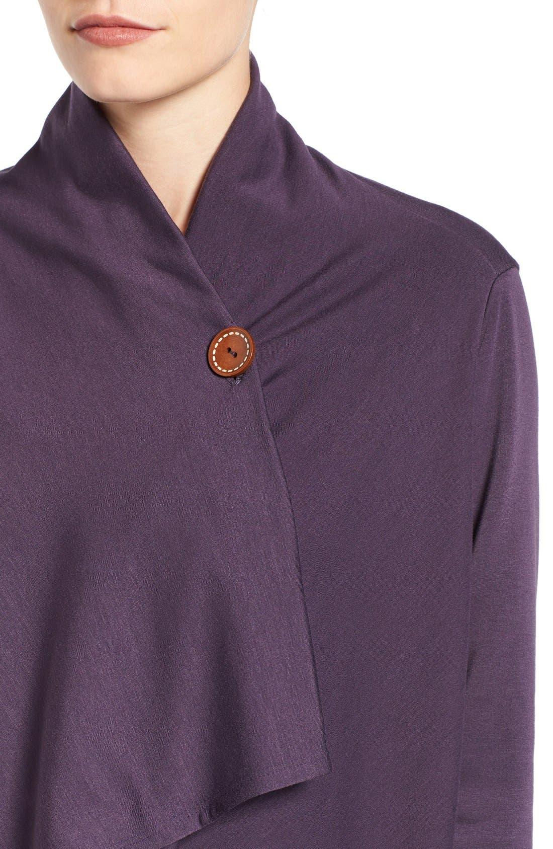 ,                             One-Button Fleece Wrap Cardigan,                             Alternate thumbnail 182, color,                             597