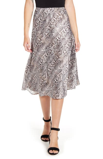 Image of French Connection Silky Snake Skirt