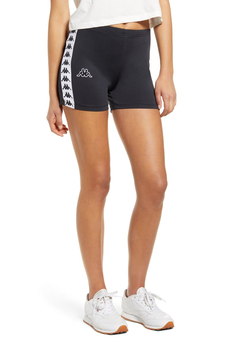 KAPPA Banda Atry Bike Shorts, Main, color, BLACK/ WHITE