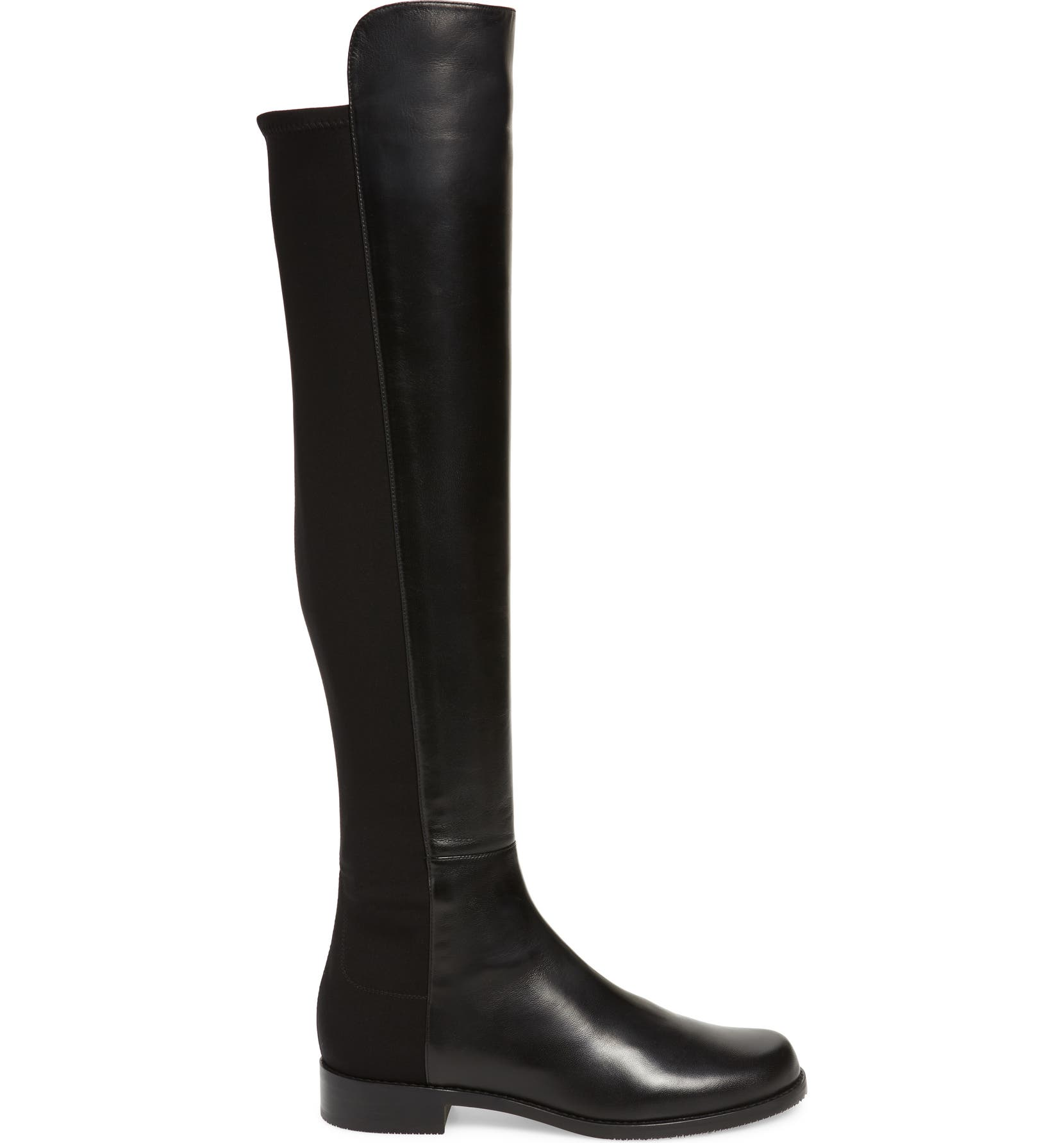 5050 Over The Knee Leather Boot Stuart Weitzman 5050 Flat Boots Shoes
