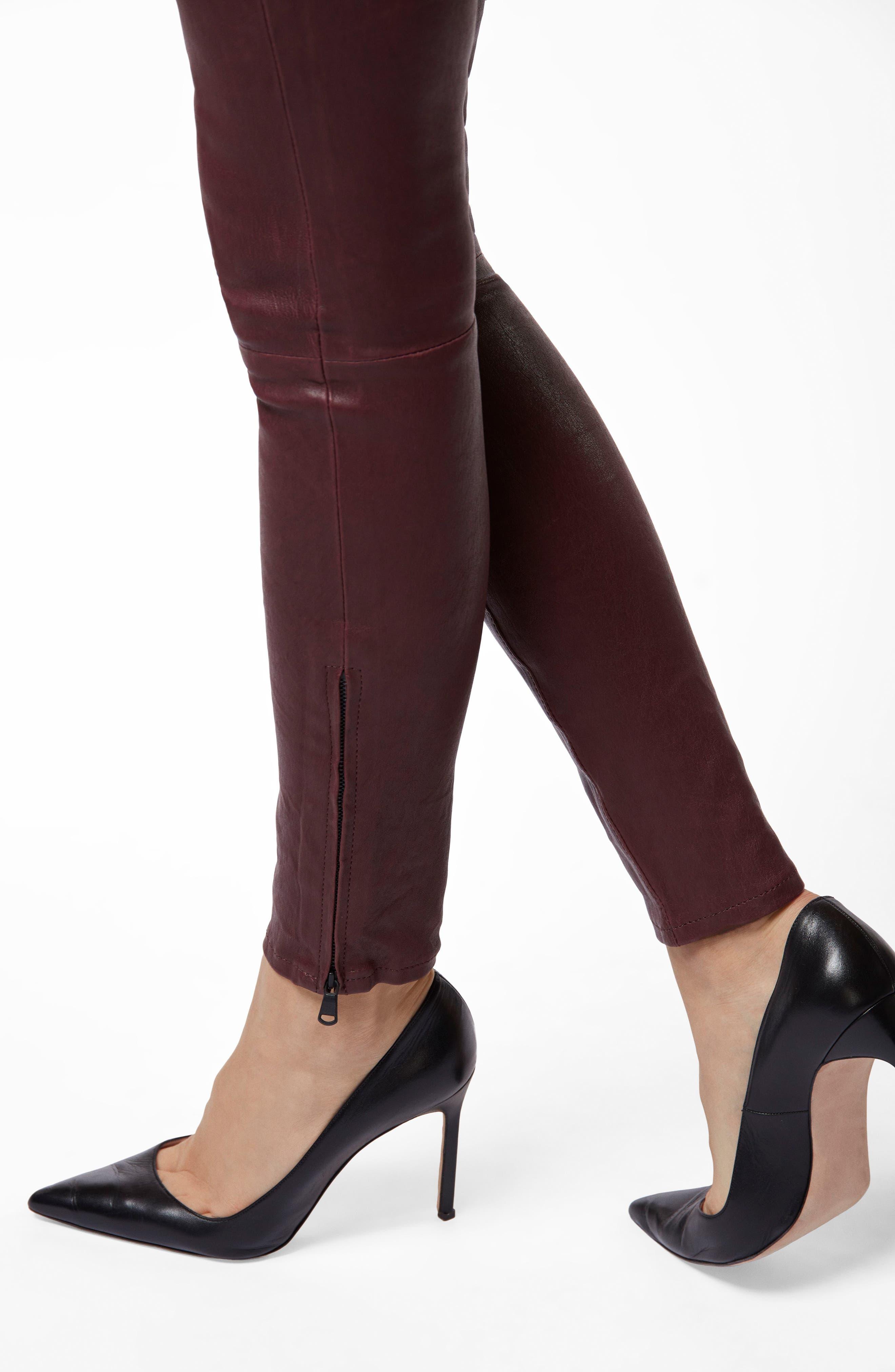 ,                             '8001' Lambskin Leather Pants,                             Alternate thumbnail 6, color,                             510