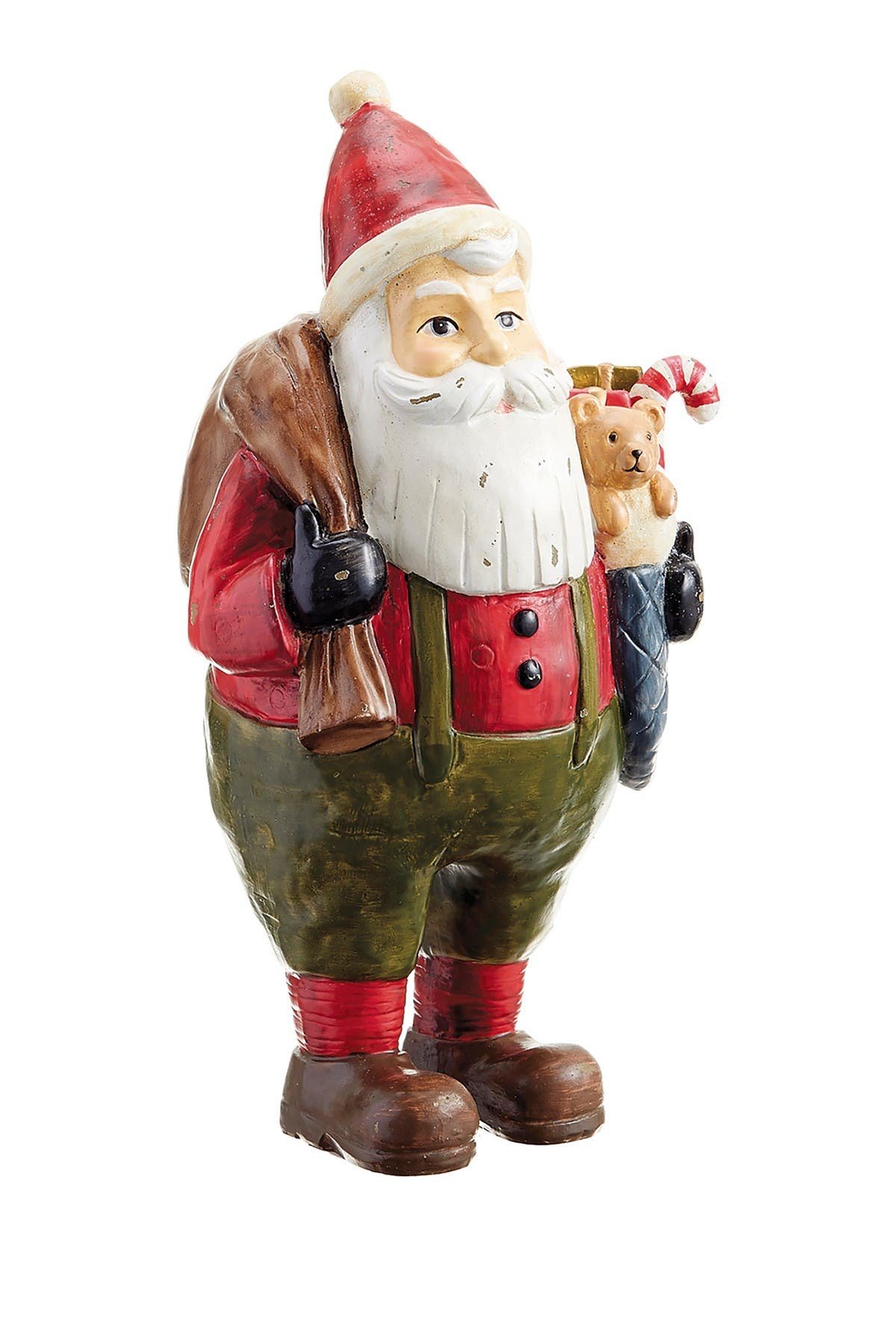 """Image of ALLSTATE 11.5"""" Santa with Gift Stocking"""