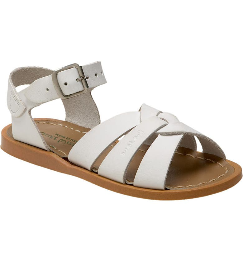SALT WATER SANDALS BY HOY Water Friendly Sandal, Main, color, WHITE