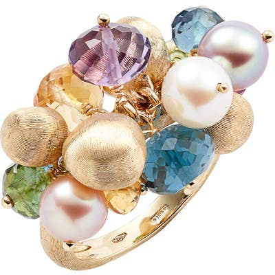 Marco Bicego Africa Semiprecious Stone & Pearl Cluster Ring