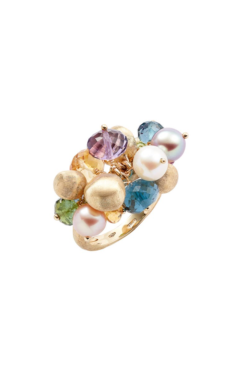 MARCO BICEGO Africa Semiprecious Stone & Pearl Cluster Ring, Main, color, 710