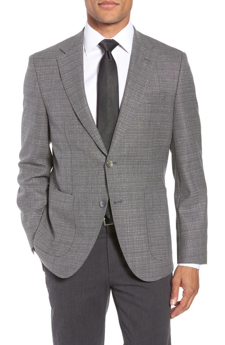 BOSS Janson Classic Fit Wool Blazer, Main, color, 069