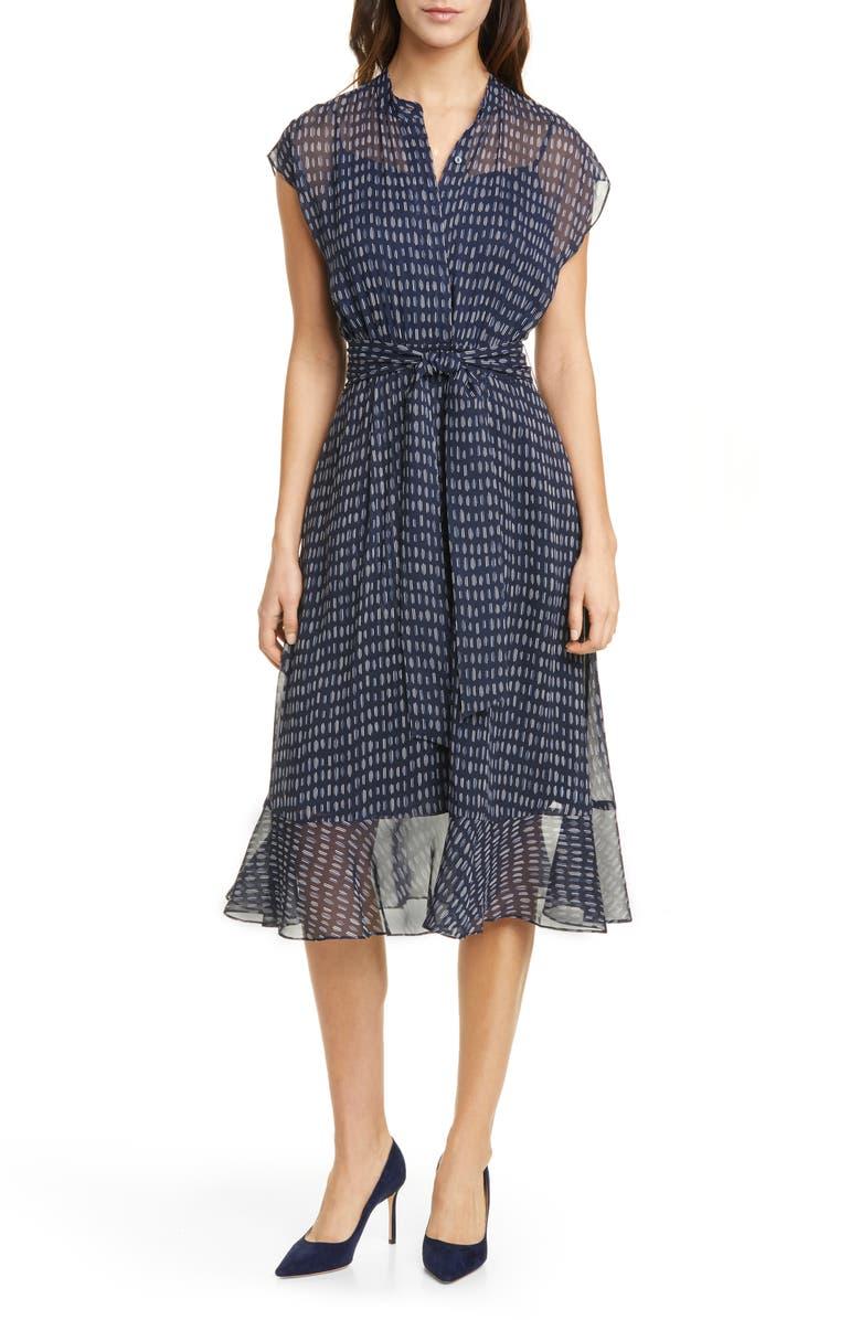 CLUB MONACO Dremah Silk Midi Dress, Main, color, 400