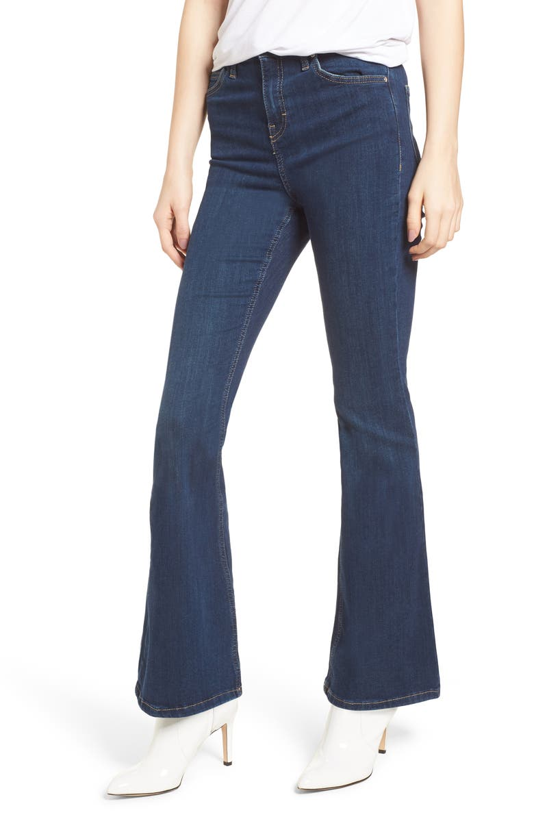 TOPSHOP Jamie Flare Jeans, Main, color, 401