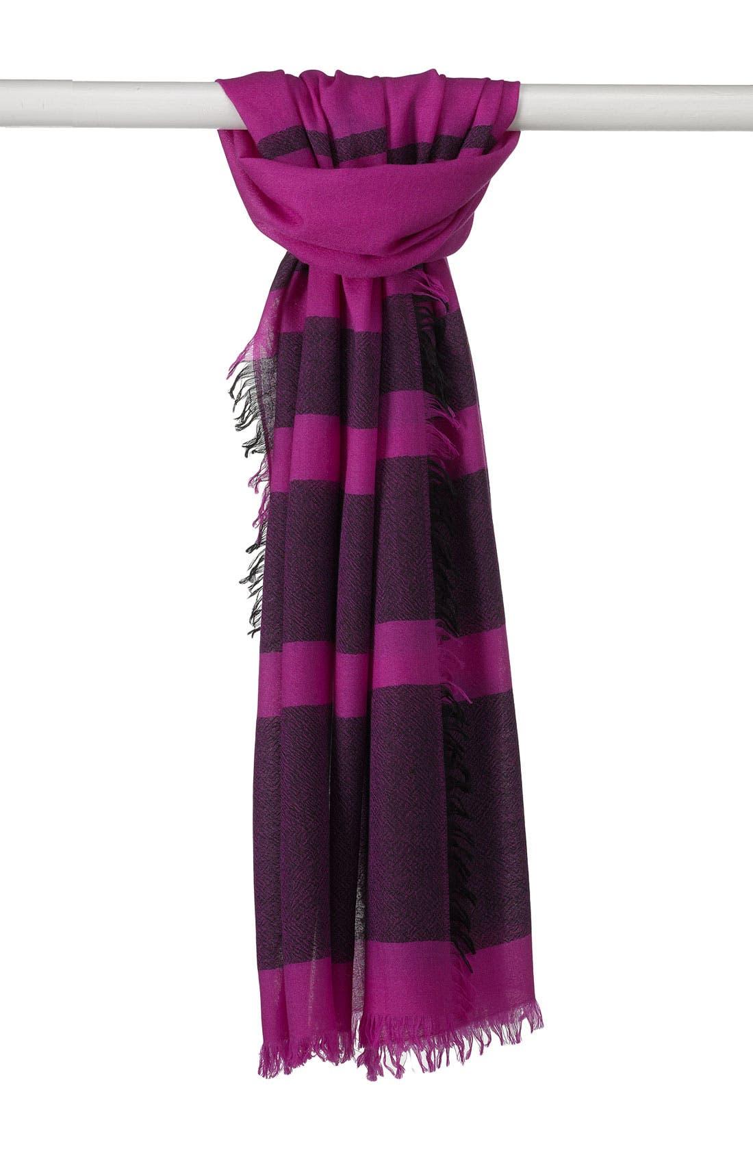 ,                             'Eyelash' Colorblock Cashmere Wrap,                             Main thumbnail 71, color,                             520