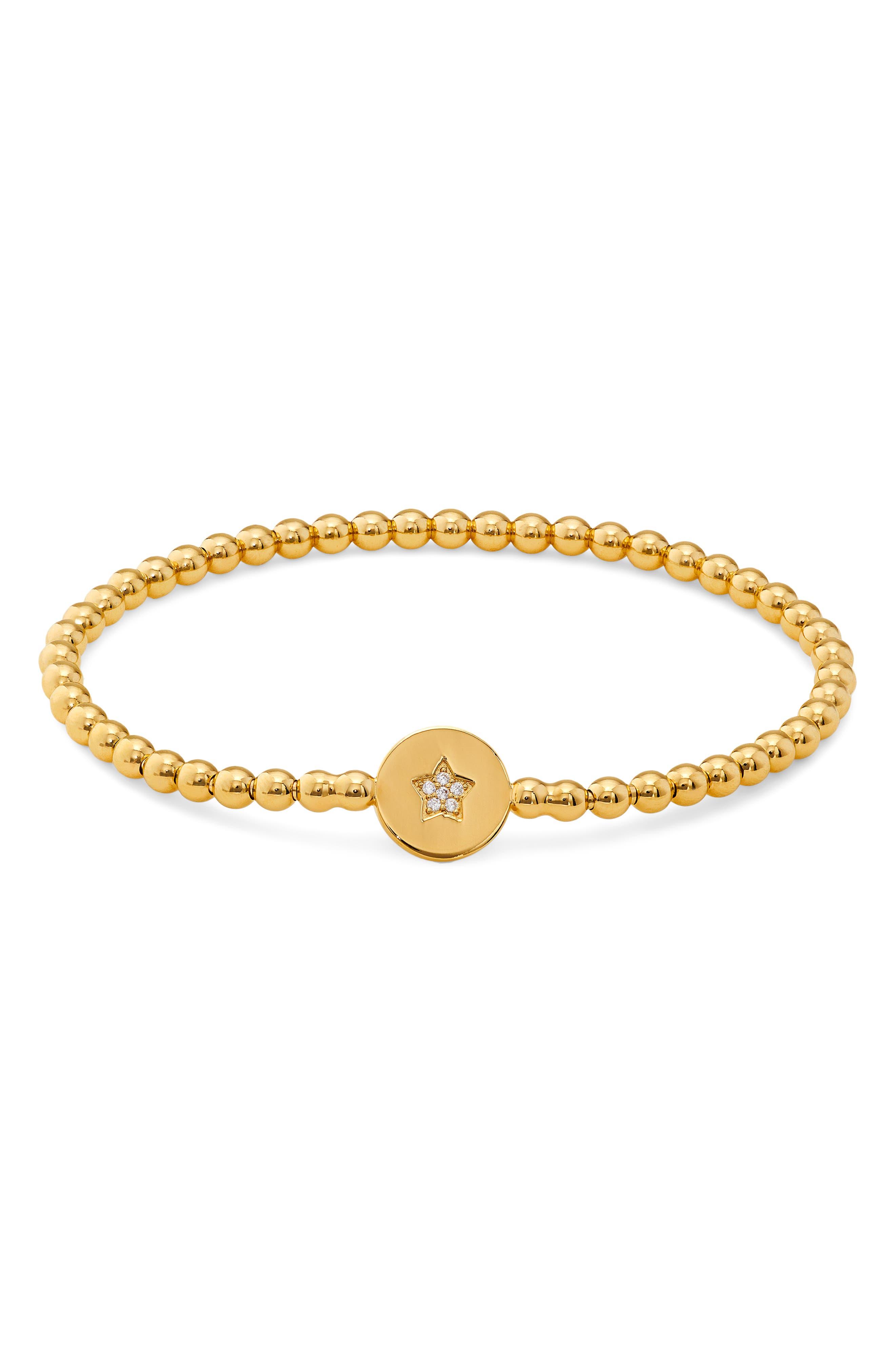 Image of NADRI Pavé Star Beaded Stretch Bracelet