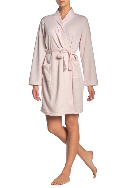 Image of Tahari Double Knit Dot Print Robe