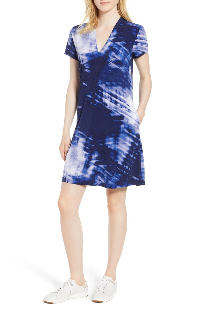 KENNETH COLE NEW YORK Jersey Shift Dress, Main, color, 491