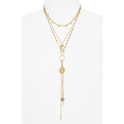 Bp. Triple Layered Charm Y-Necklace