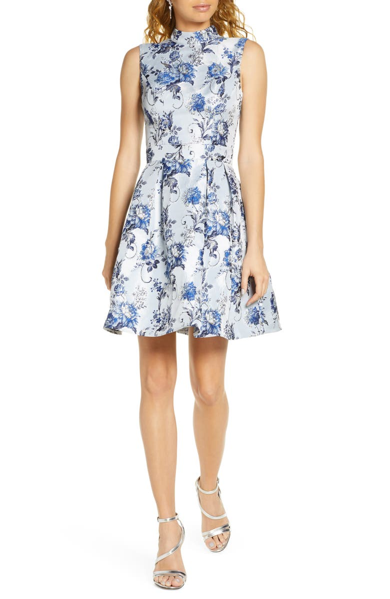 CHI CHI LONDON Elowen Fit & Flare Cocktail Dress, Main, color, 420