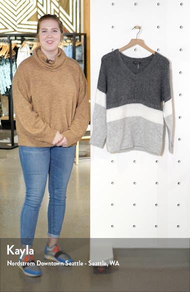 Stripe V-Neck Tunic Sweater, sales video thumbnail