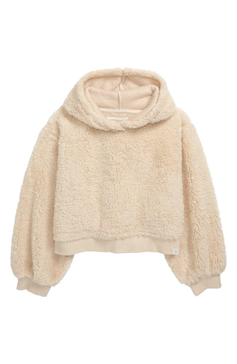 TREASURE & BOND Fuzzy Hoodie, Main, color, 900