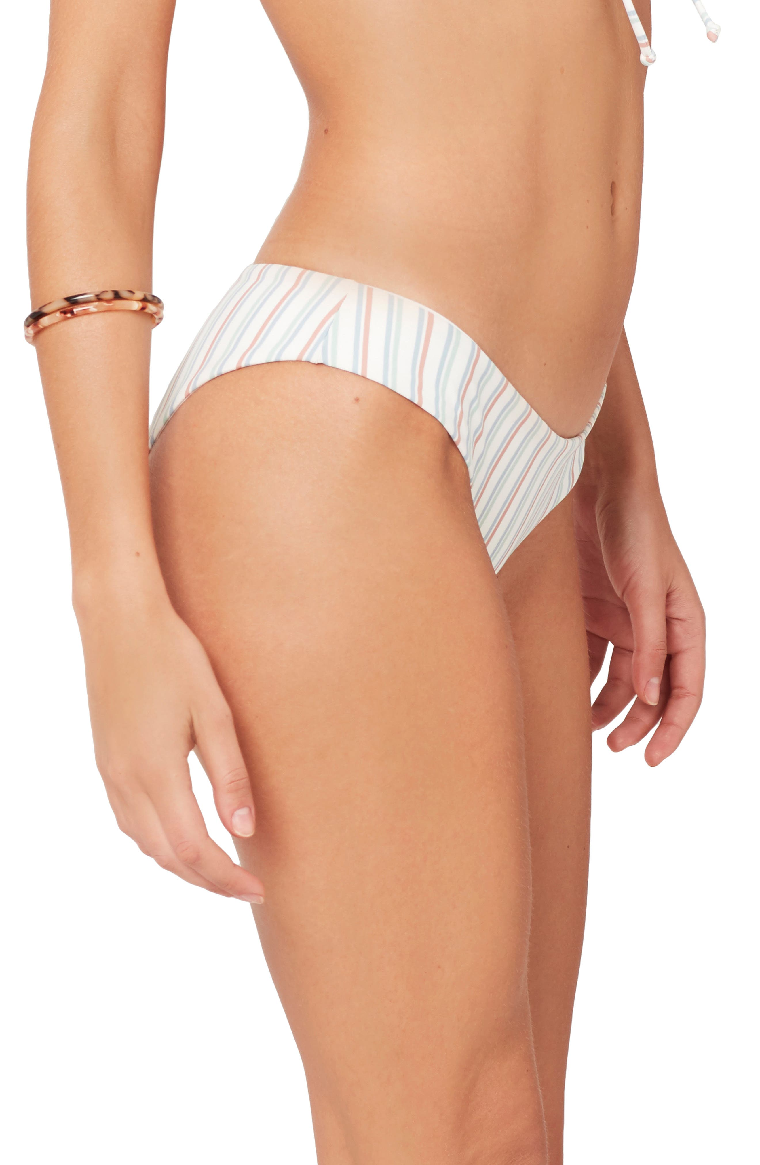 ,                             x Becca Tilley Sandy Classic Bikini Bottoms,                             Alternate thumbnail 4, color,                             CABANA STRIPE