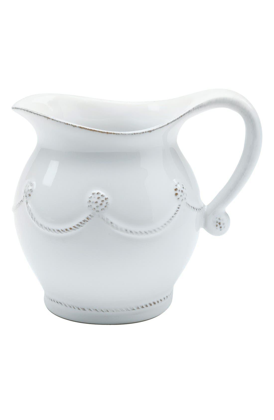 ,                             'Berry and Thread' Ceramic Creamer,                             Main thumbnail 1, color,                             WHITEWASH