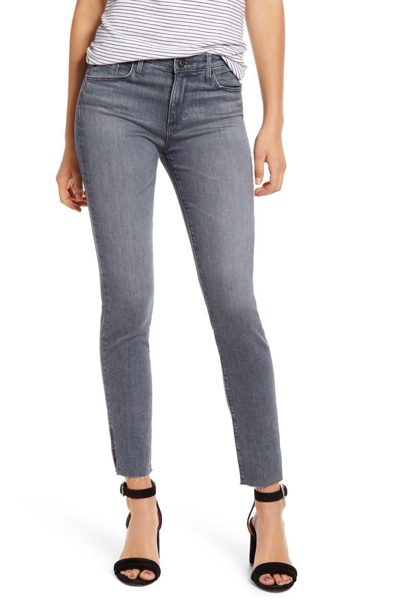 AG Prima Slit Raw Hem Ankle Skinny Jeans, Main, color, GRAY LIGHT