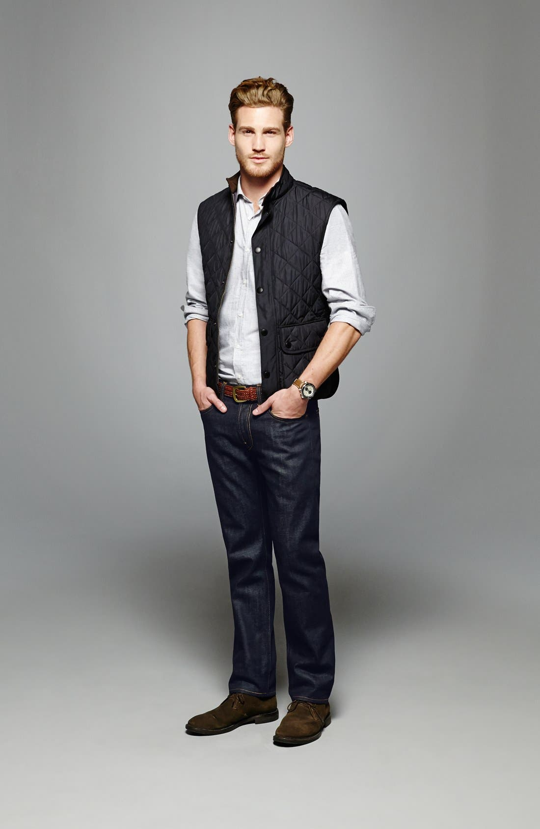 ,                             The Straight - Luxe Performance Slim Straight Leg Jeans,                             Alternate thumbnail 8, color,                             DEEP WELL