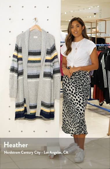 Staggered Stripe Cardigan, sales video thumbnail