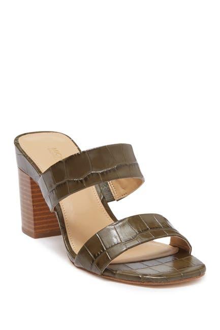 Image of Michael Kors Glenda Croc Embossed Sandal