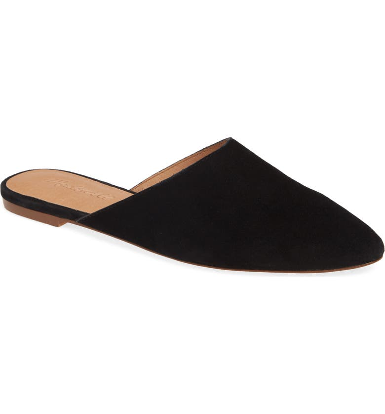MADEWELL Remi Mule, Main, color, TRUE BLACK SUEDE