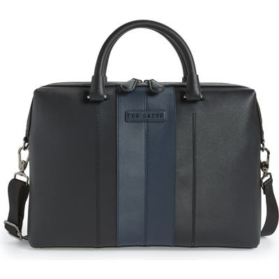 Ted Baker London Faux Leather Document Bag - Black