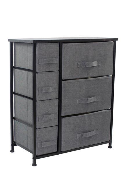 Image of Sorbus 7 Drawers Chest Dresser - Black