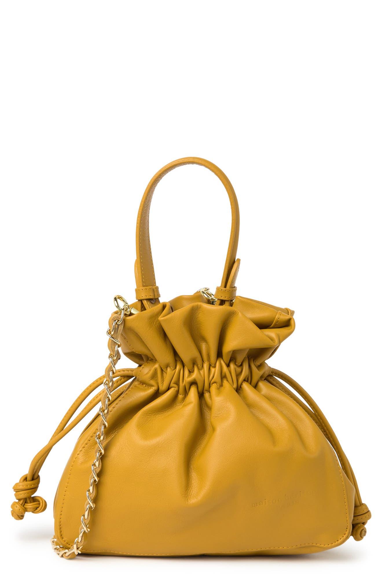 Image of Maison Heritage Reni Sac Bourse Leather Satchel