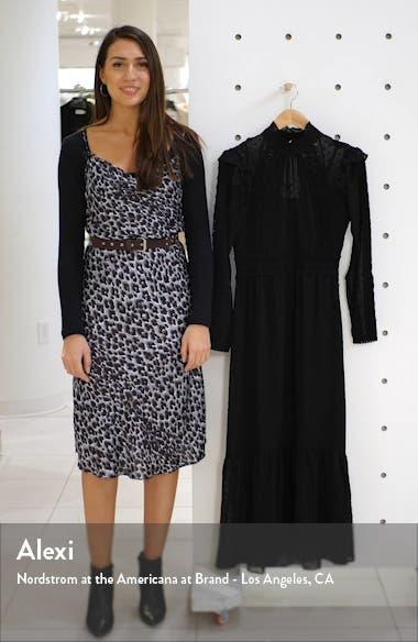 Long Sleeve Lace Trim Midi Dress, sales video thumbnail