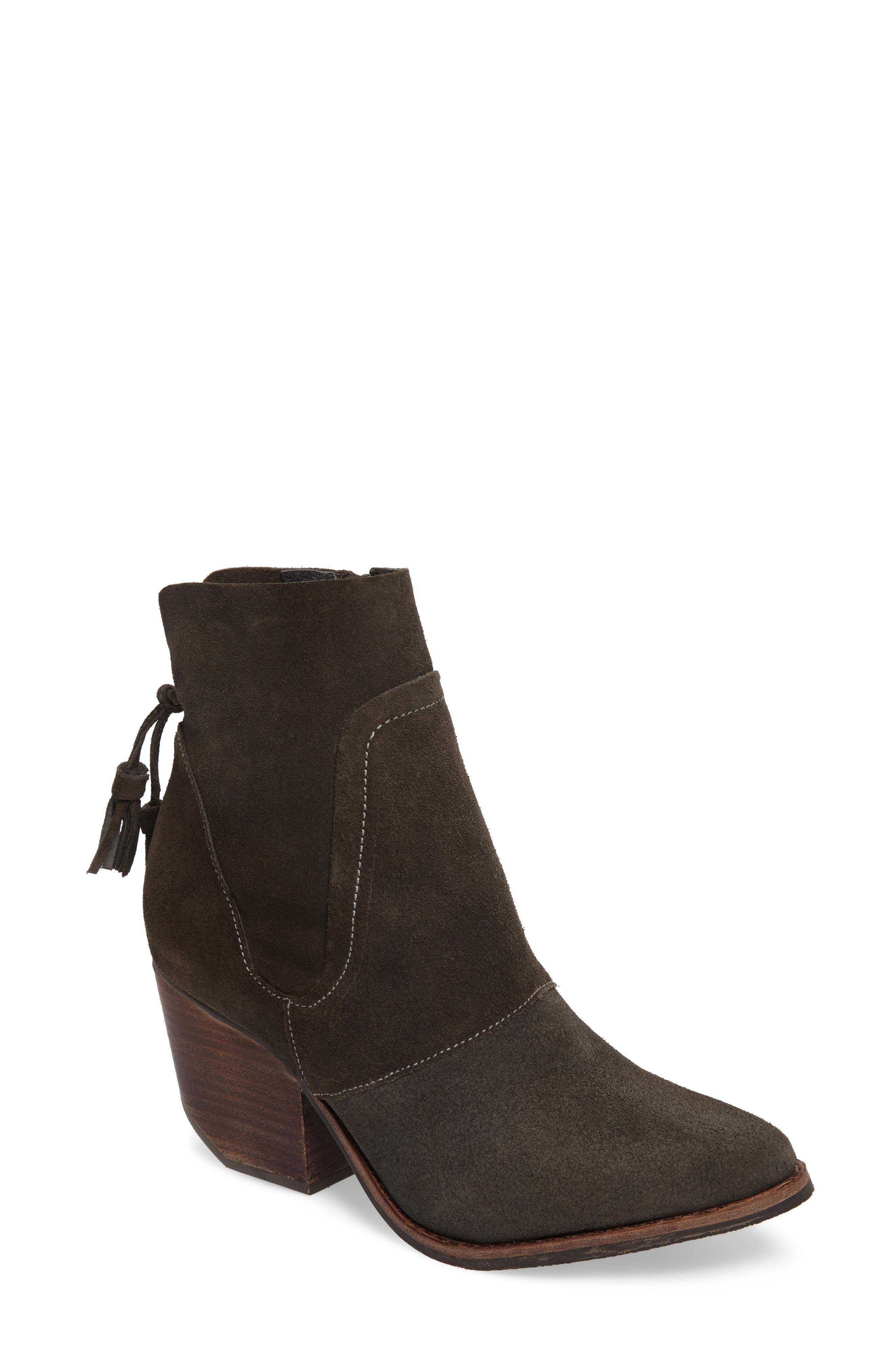 ,                             Laney Notched Heel Bootie,                             Main thumbnail 1, color,                             020
