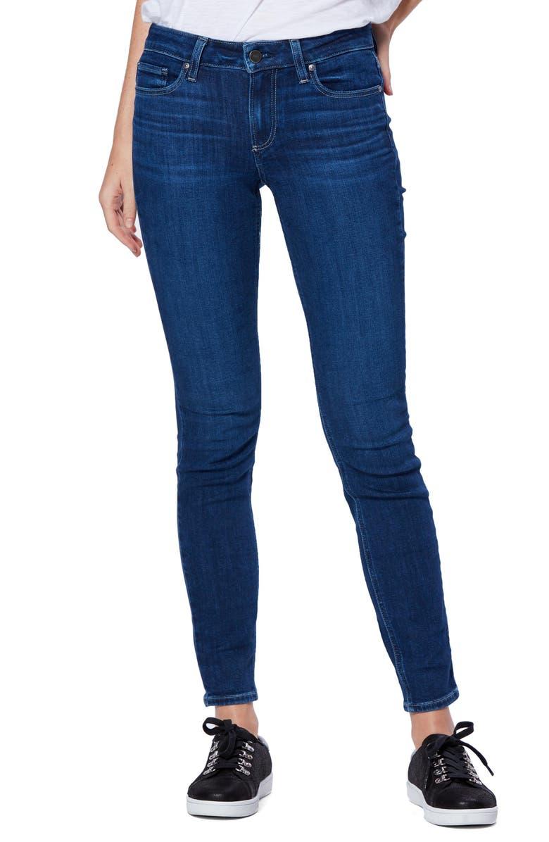 PAIGE Transcend Vintage - Verdugo Skinny Jeans, Main, color, 400
