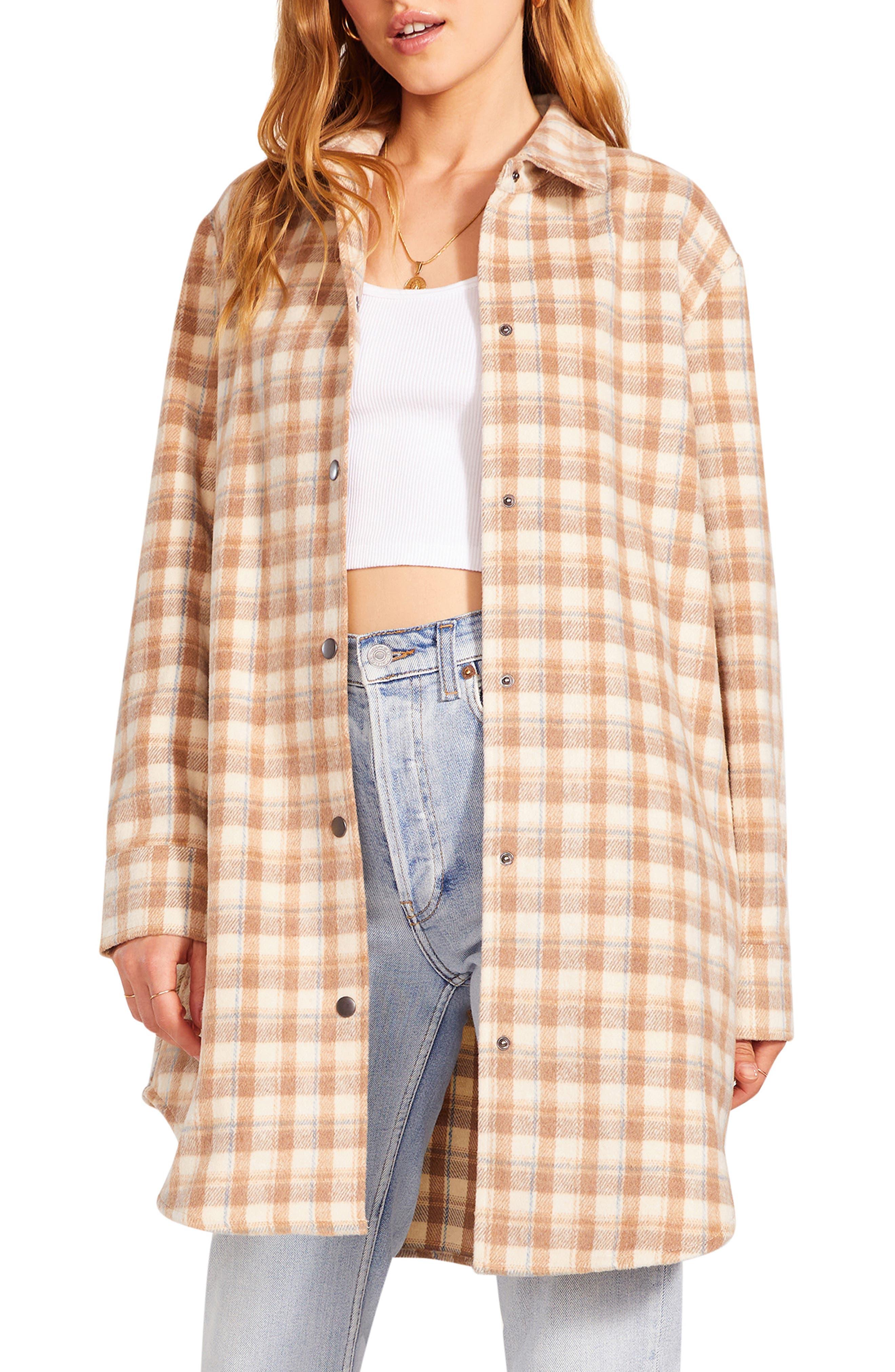 Women's Bb Dakota Eldridge Plaid Shirt Jacket