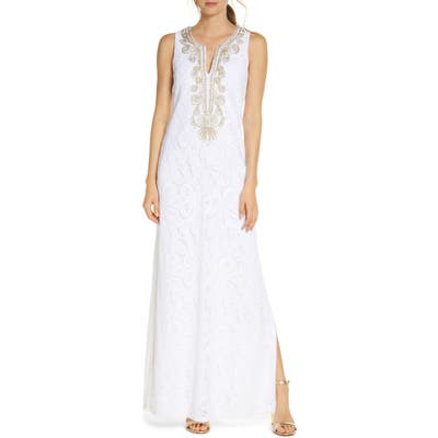 Lilly Pulitzer Carlotta Maxi Dress, White
