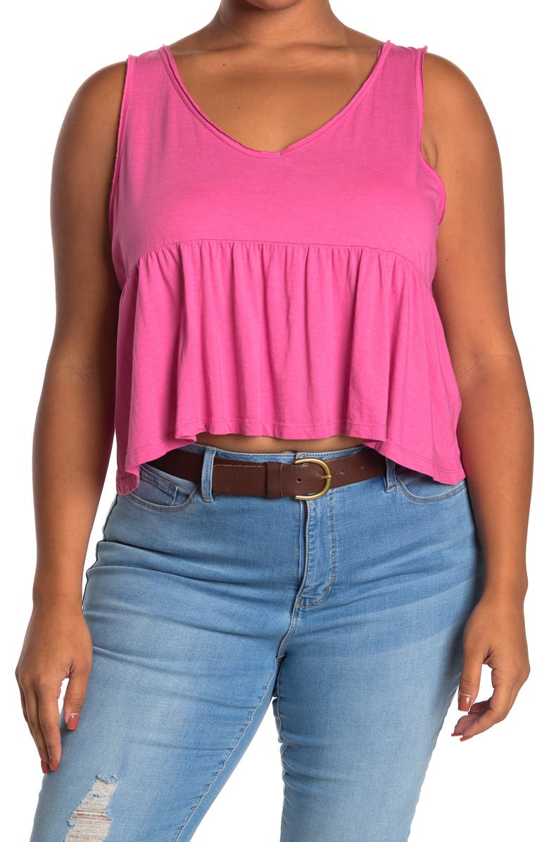 ABOUND Babydoll Tank Top, Main, color, PINK IBIS