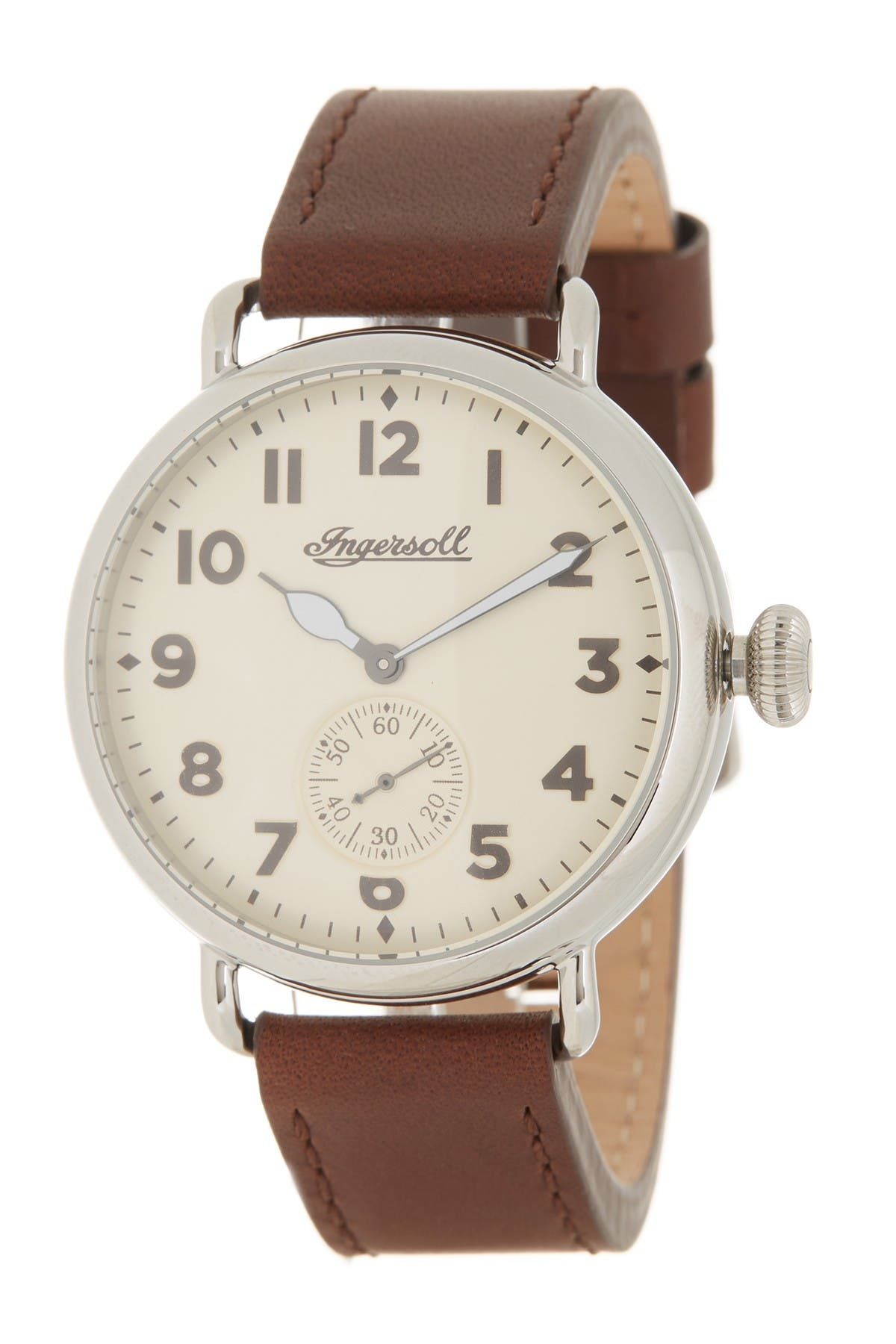 Image of INGERSOLL WATCHES Men's Trenton Leather Strap Watch, 44mm