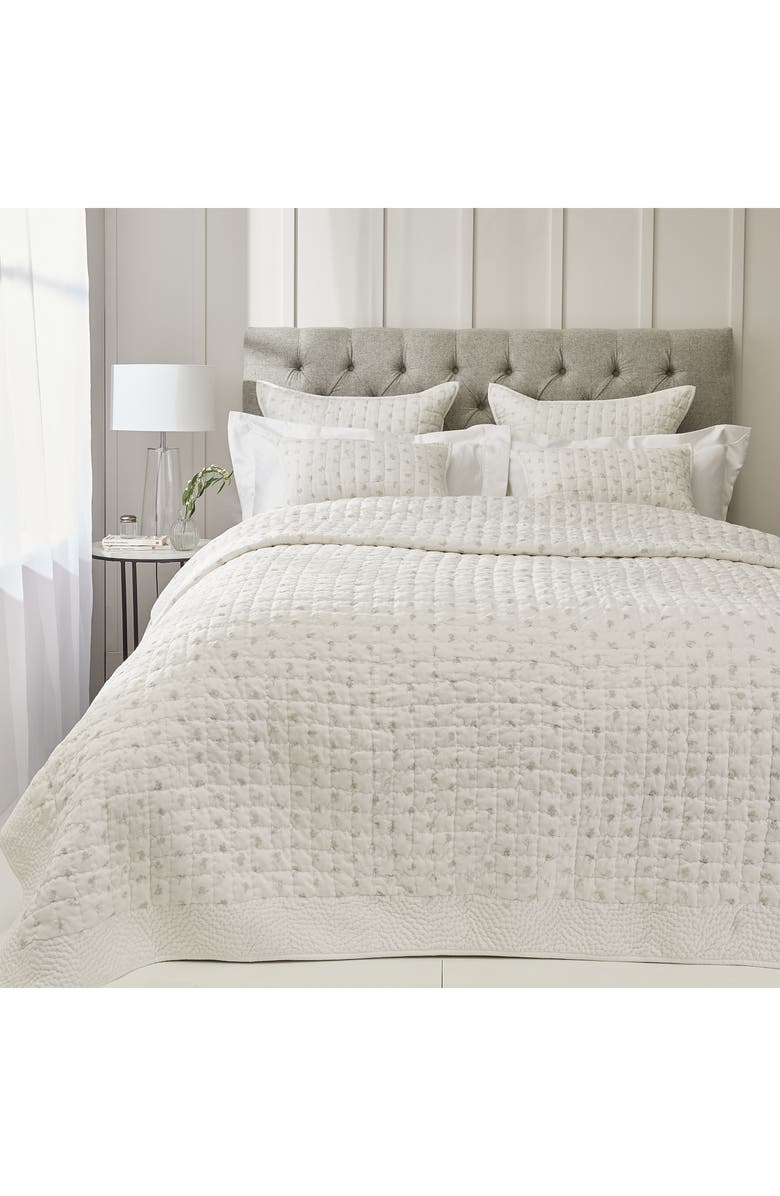 THE WHITE COMPANY Lille Quilt, Main, color, WHITE/ GREY