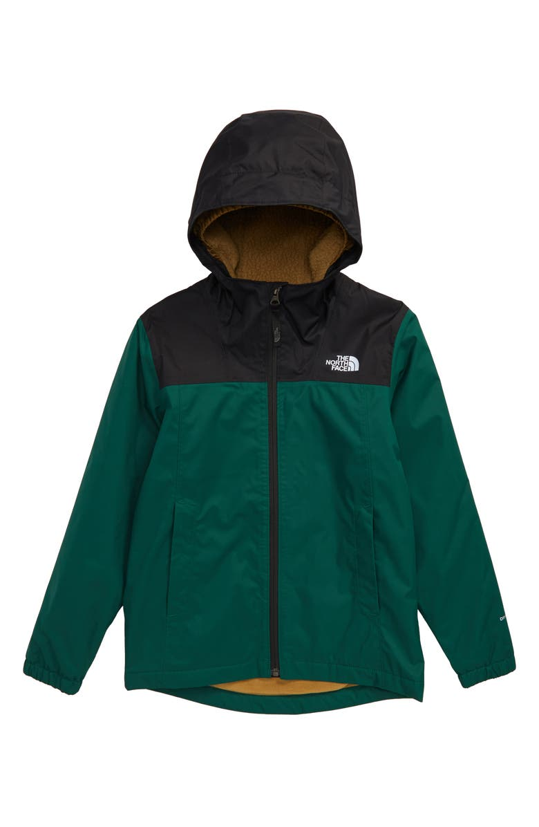 THE NORTH FACE Warm Storm Hooded Waterproof Jacket, Main, color, NIGHT GREEN