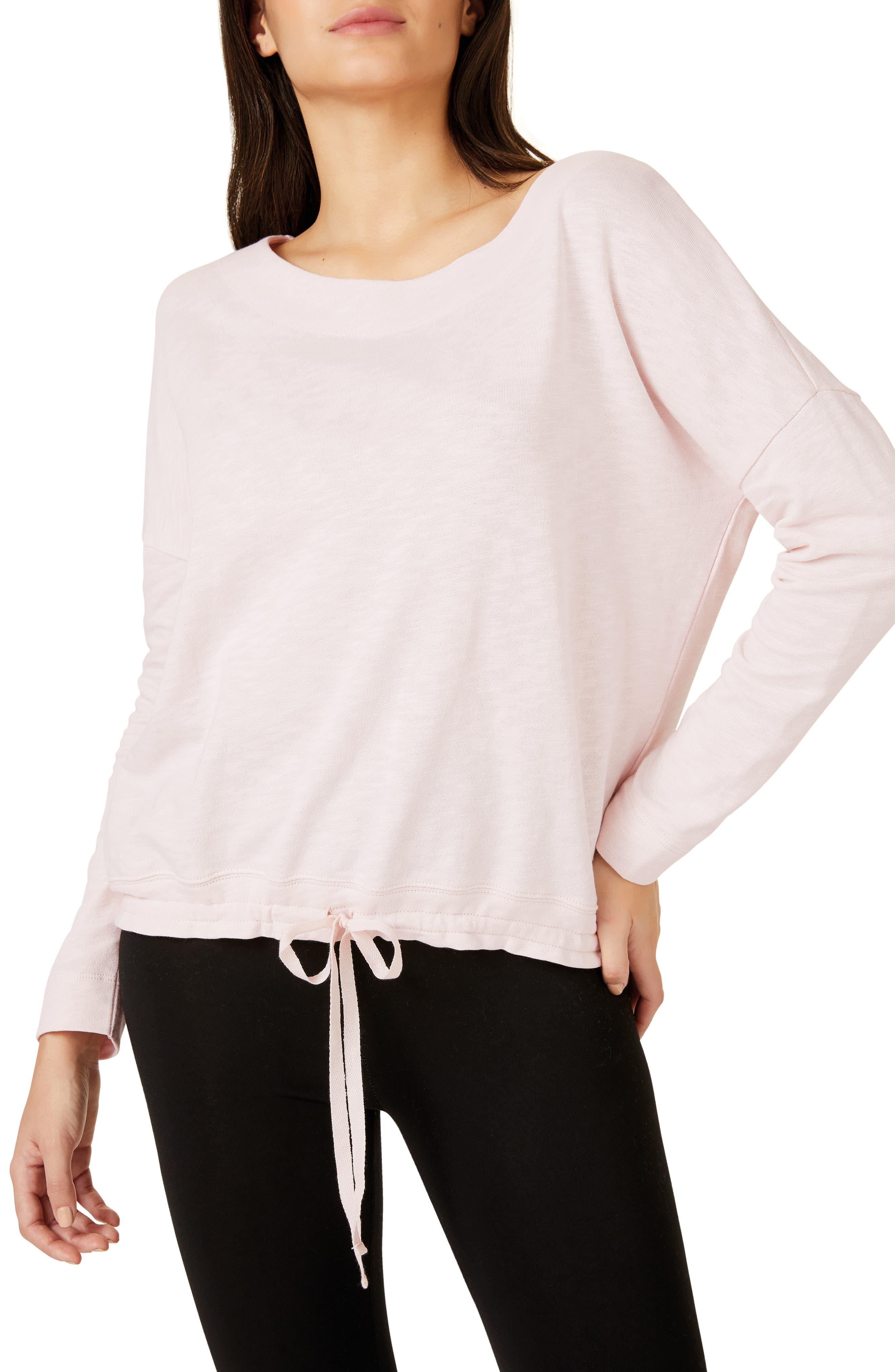 The White Company Tie Hem Sweatshirt, Pink
