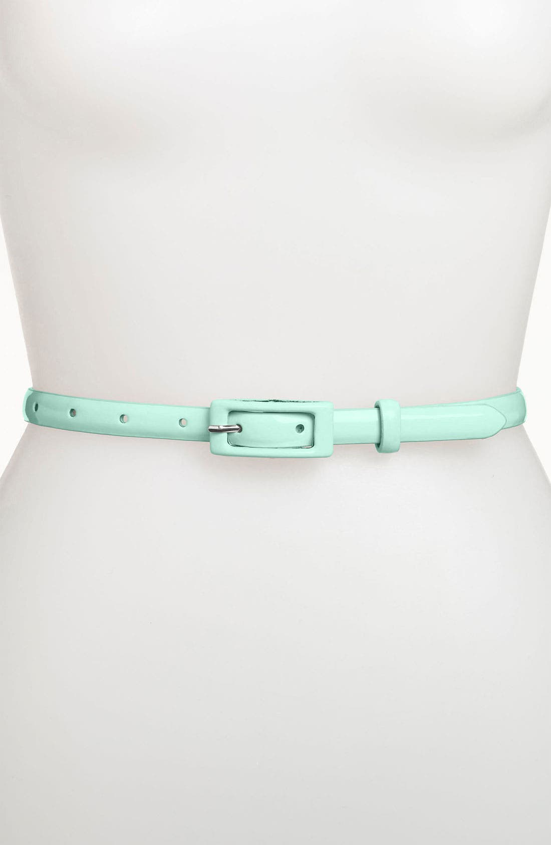 ,                             'Updated' Skinny Patent Belt,                             Main thumbnail 15, color,                             330