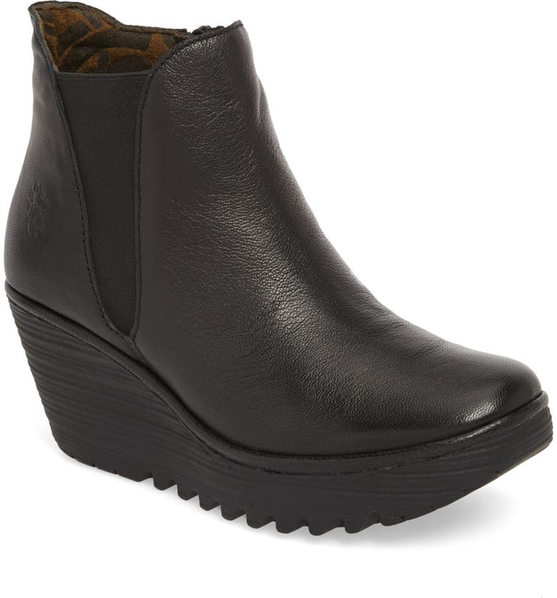 FLY LONDON Yozo Wedge Boot, Main, color, BLACK